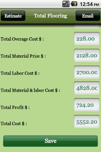Flooring Estimator- screenshot thumbnail