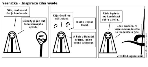 Komiks Vesnička - Inspirace číhá všude.
