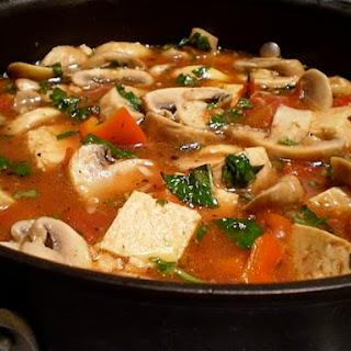 Tofu and Mushroom Marsala