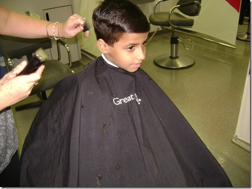Vedic During Haircut