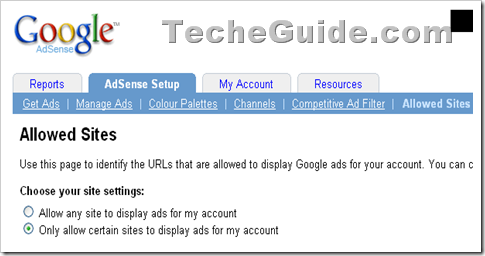 Adsense Allowed Site