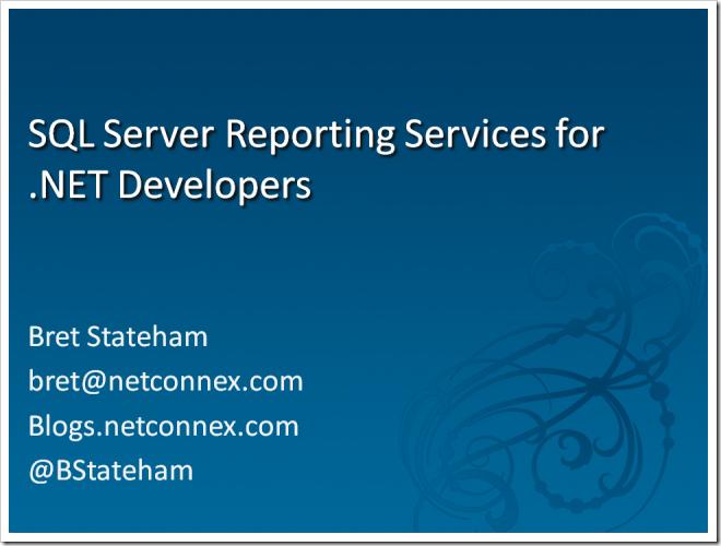 SQL Server 2008 « Bret Stateham's Blog