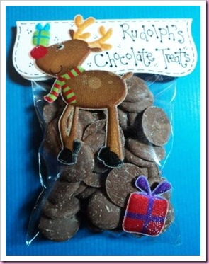 Rudolph's Chocolate Treats Favour Candy Bag