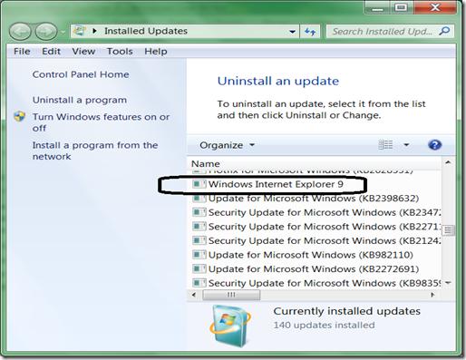 N A G A S A I How To Uninstall Internet Explorer 9