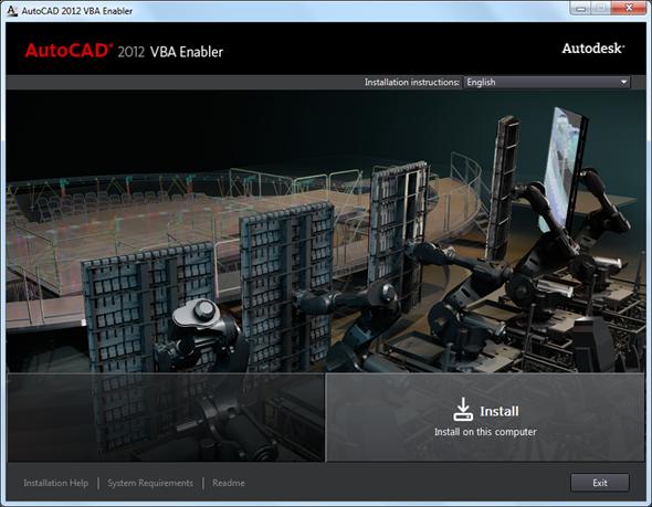 JTB World Blog: AutoCAD 2012 VBA Enabler