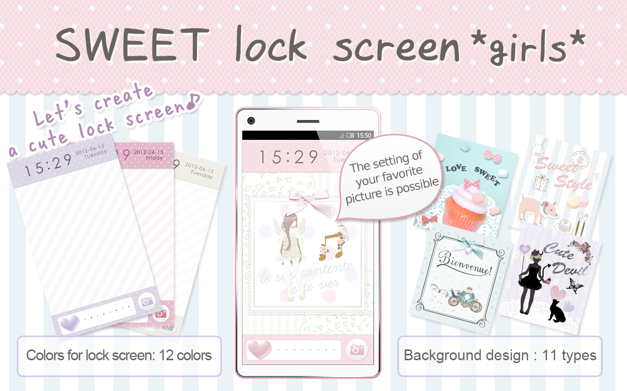 SWEET Lock Screen Girls APK
