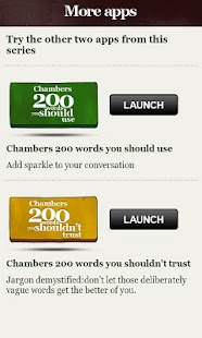 Chambers 200 Words–Don't Use - screenshot thumbnail