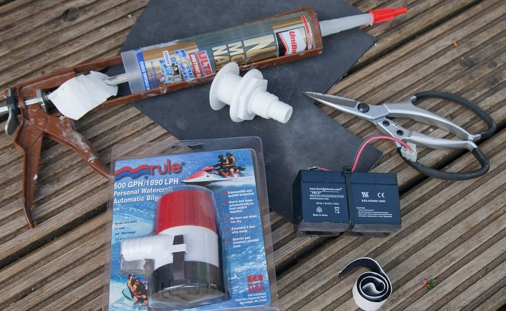 sea kayaking with seakayakphoto com: fitting an electric pump to a sea kayak
