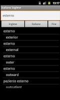 Screenshot of English Italian Dictionary