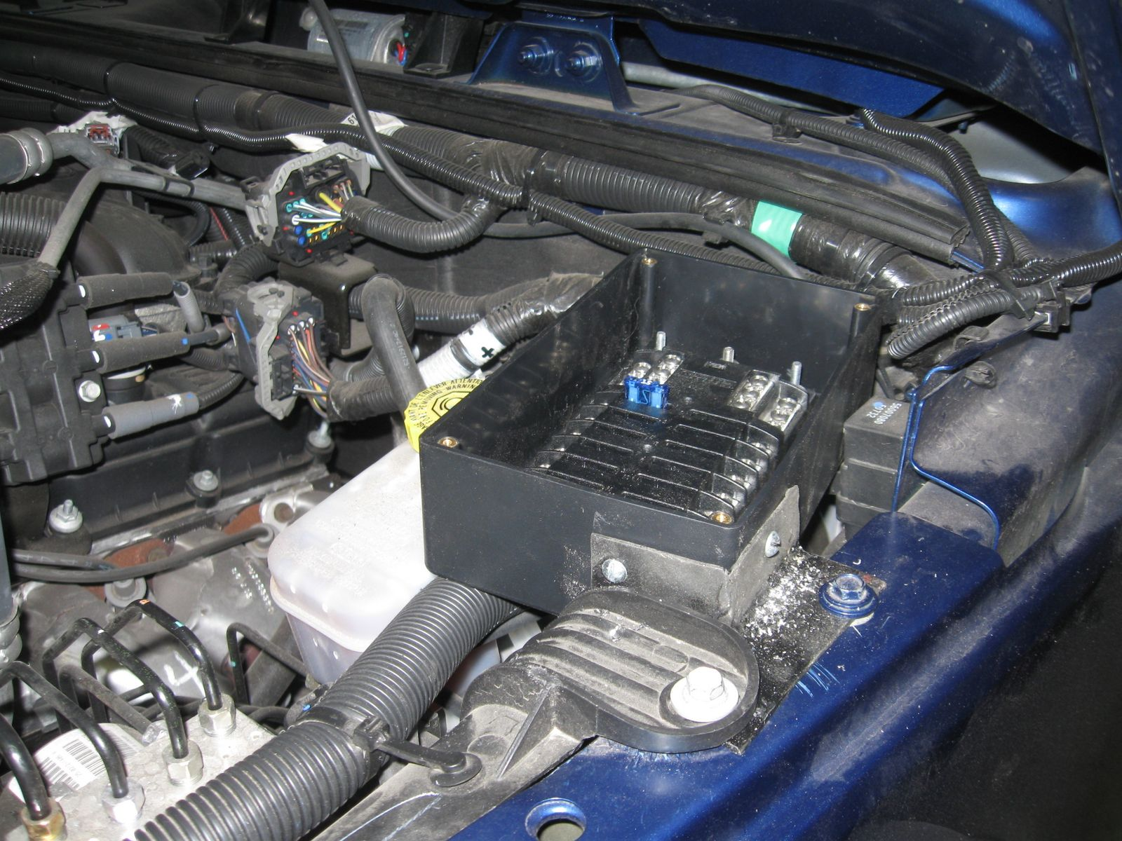 Project Blue Bruin Auxiliary Fuse Block Outside Breaker Box I Mounted The Inside And Then Mouted Relay Circuit To Of