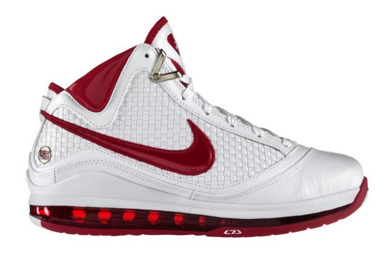 new style f429c bca24 Releasing Now Nike Air Max LeBron VII NFW WhiteVarsity Red ...