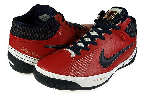 detailed look 3d3ab 12504 Nike Zoom LBJ Ambassador II Varsity Red Midnight Navy White   NIKE LEBRON -  LeBron James Shoes