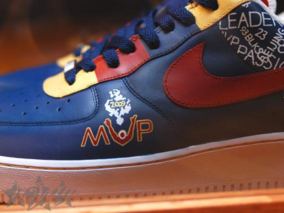 fef30aa1c96670 LeBron Presented With Custom 8220MVP8221 Nike Air Force One ...