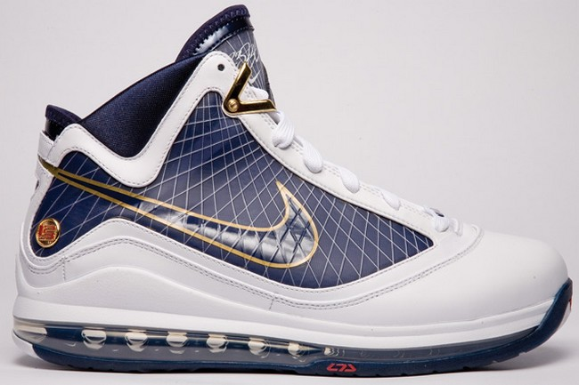 on sale 0df36 7a2ca Release Reminder Nike Air Max LeBron VII WhiteMidnight Navy ...
