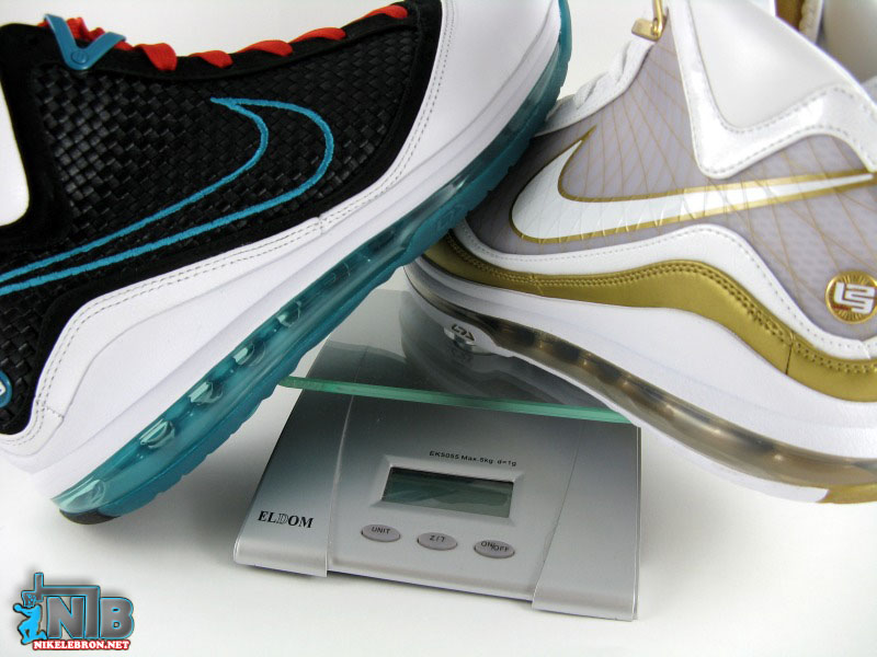 best website f9379 bc298 Nike Air Max LeBron VII 8211 Flywire vs NFW 8211 Weight Comparison ...