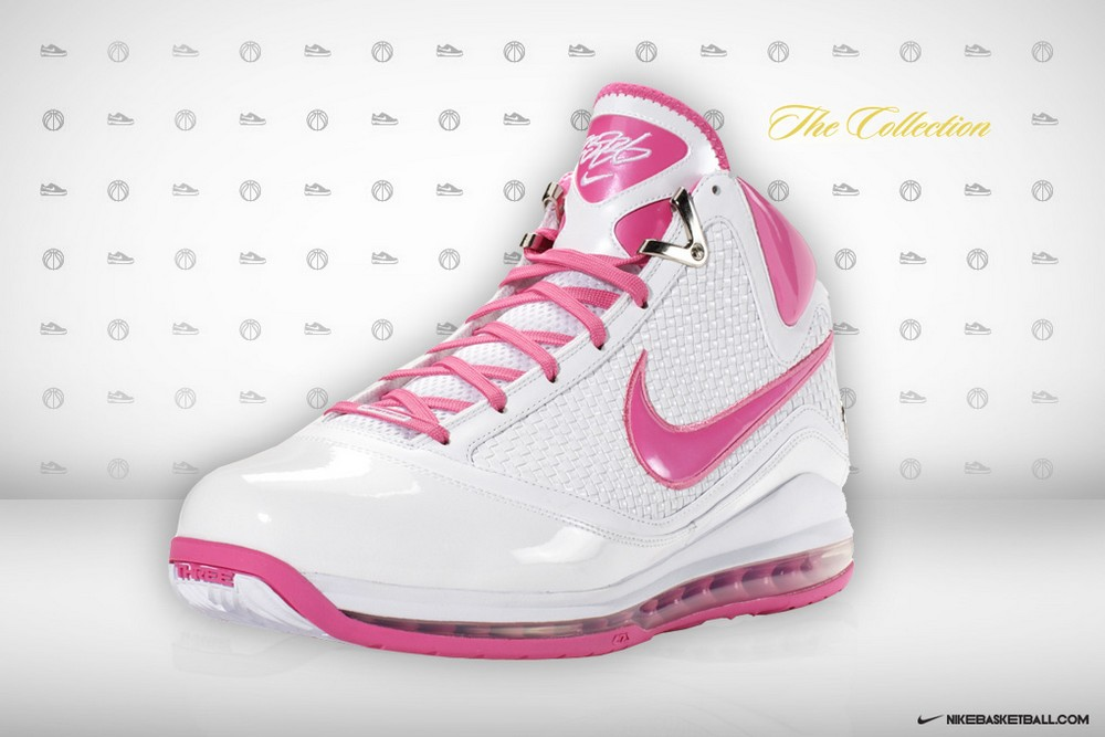 best cheap 8c043 3628a LeBron James X 8220Box Out Breast Cancer8221 Air Max LeBron VII8217s .. ...  Throwback Thursday Nike LeBron VII ...