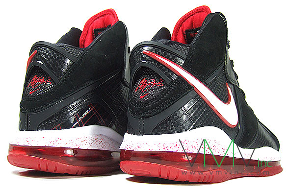 Nike Air Max LeBron VIII 8 GS 8211 BlackWhiteRed 8211 First Look ... 3d465cda0