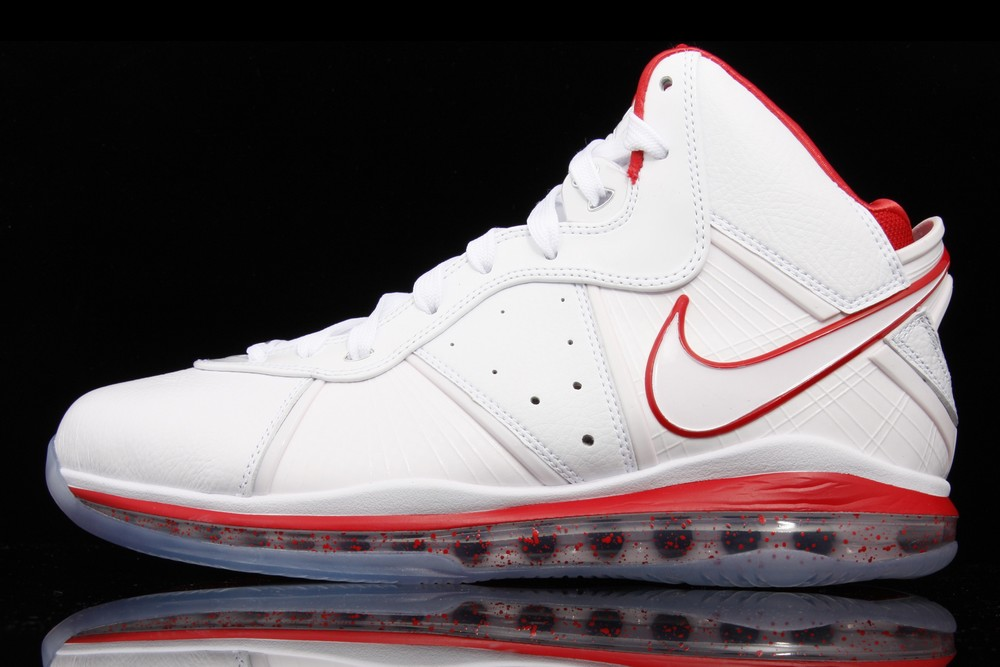 2f71a98fd31 417098-101 White White-Sport Red (Chinas). Detailed Look at Nike Air Max LeBron  8 China Limited Edition ...