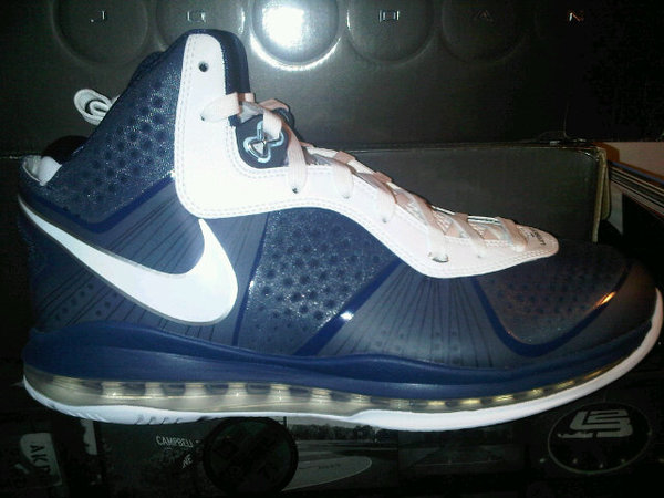e125d554fc3a Nike Air Max LeBron 8 V2 Navy White Silver New Images
