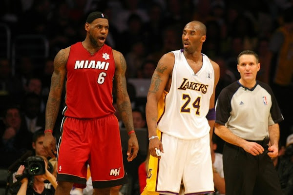 17cd3b815bbfc LeBron Has Triple Double Jaws With Kobe as Heat Take Down Lakers on Christmas  Day ...
