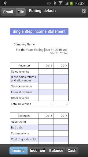 Financial Statements Mobile