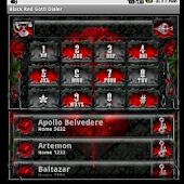 Black Red Goth Dialer
