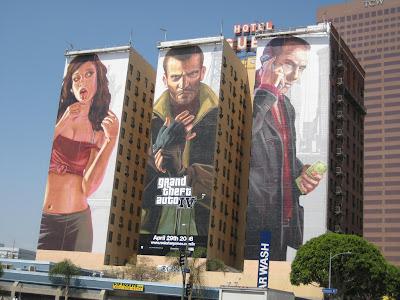 大作自有大排场-洛杉矶 GTA 后再现巨幅 FF13 广告