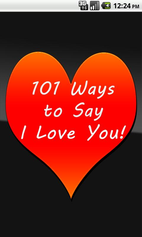 101 Ways to Say I Love You- screenshot