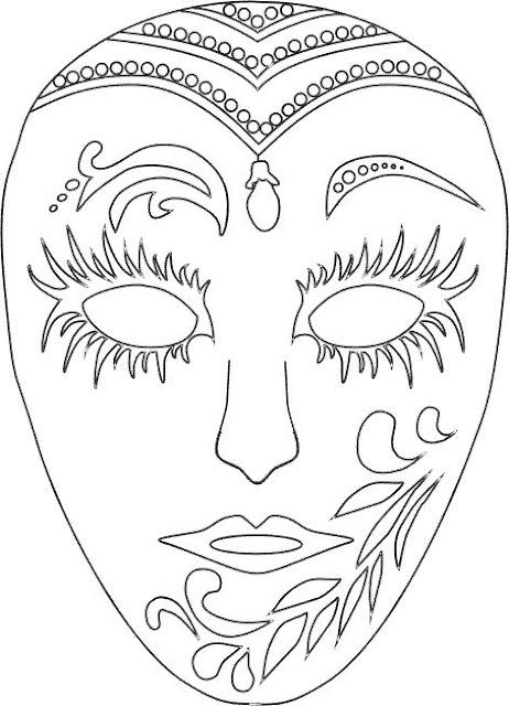 Mascaras De Carnaval Para Imprimir Y Colorear