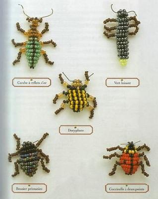 ...книге представлены схемы плетения насекомых из бисера (30 насекомых).
