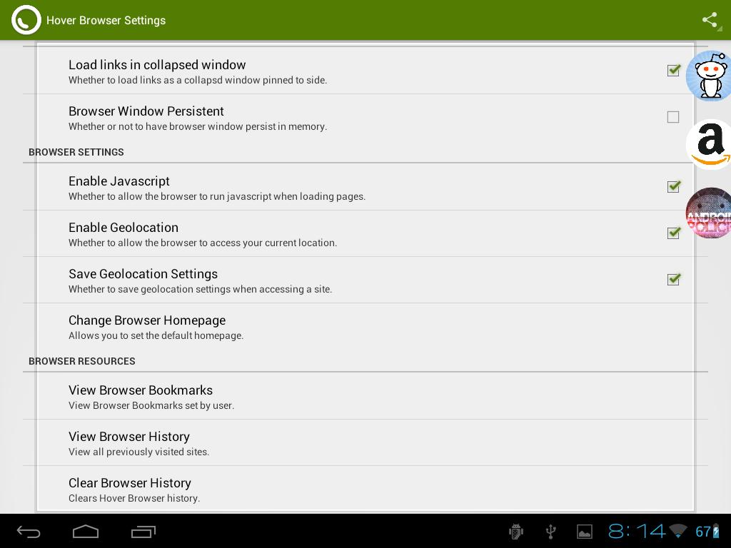 Hover Browser - screenshot