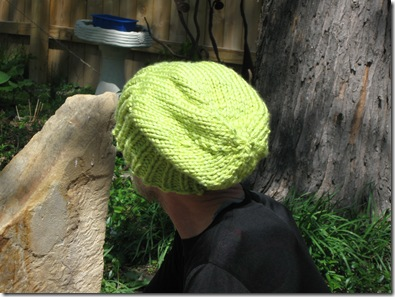 Knitted Flat Slouchy Hat free knit pattern