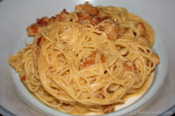 Carbonara with Eggs and Bacon