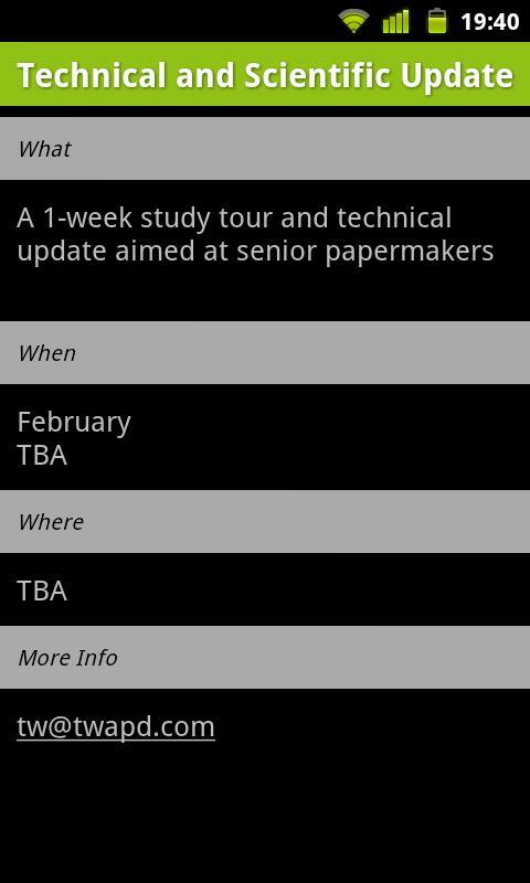 Paper Training Group Calendar- screenshot