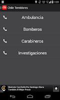 Screenshot of ChileTemblores