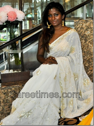 beautiful dark indian woman