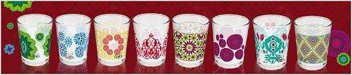 vasos de nocilla decorados con diseños de rosario flores