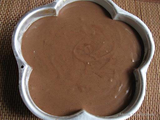 Eggless Chocolate Cake Batter