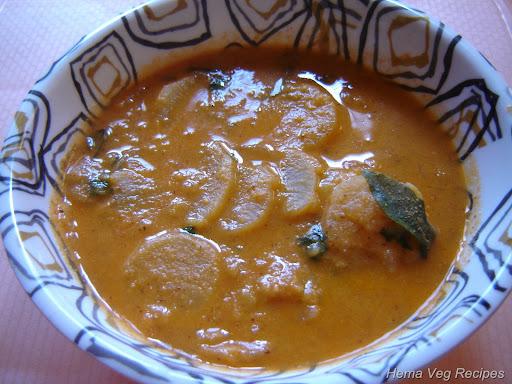 Radish Sambar or Mullangi Sambar