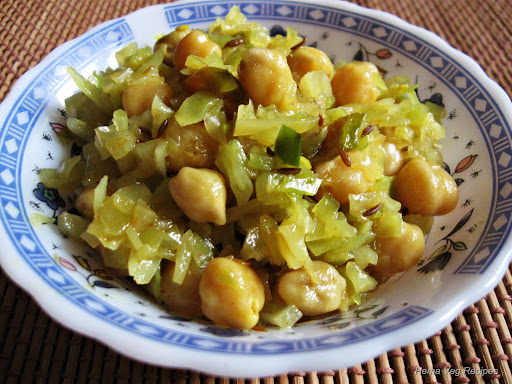 Cabbage Channa Sabji Palya