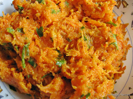 Carrot Cheese Paratha Filling