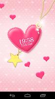 Screenshot of pink heart LiveWallpaper