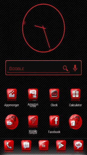 Slick Launcher Theme Red