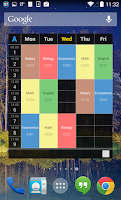 Screenshot of Handy Timetable
