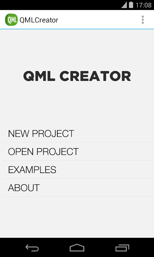 QML Creator - screenshot