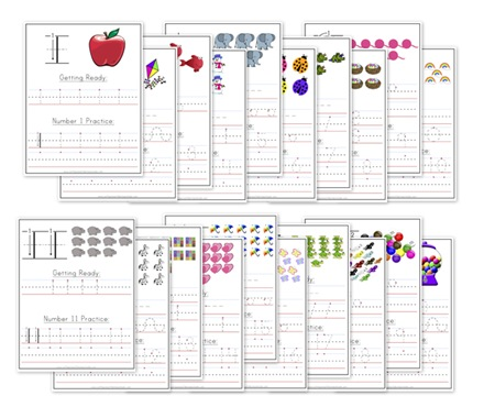 Kindergarten Number Writing Worksheets - Confessions Of A Homeschooler