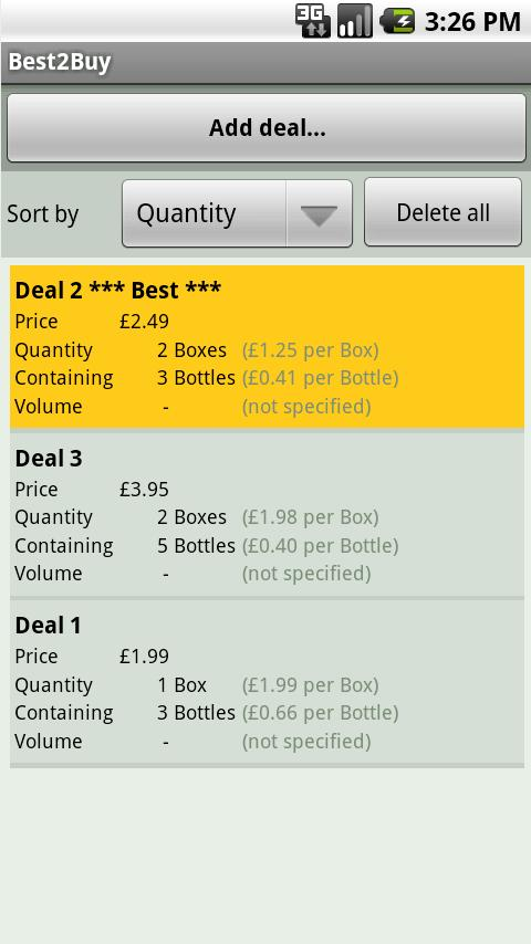 Best2Buy - compare deal prices - screenshot