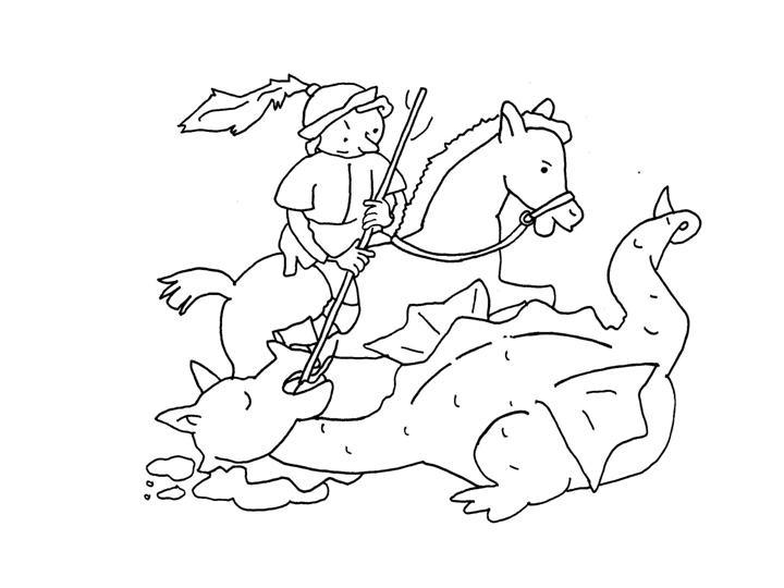 Dibujos De Sant Jordi La Rosa El Dragon