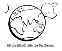 planeta tierra dibujo para colorear