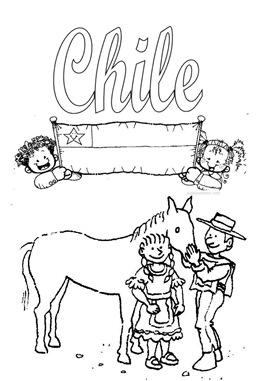 Dibujos Para Colorear De Chile